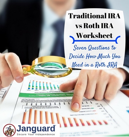 traditional ira vs roth ira worksheet
